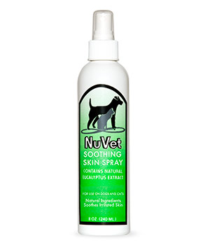 nuvet soothing skin spray for cats dogs supplements products